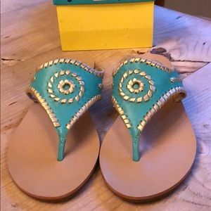 Jack Rogers Shoes - Turquoise Jack Rogers sandals EUC  box included